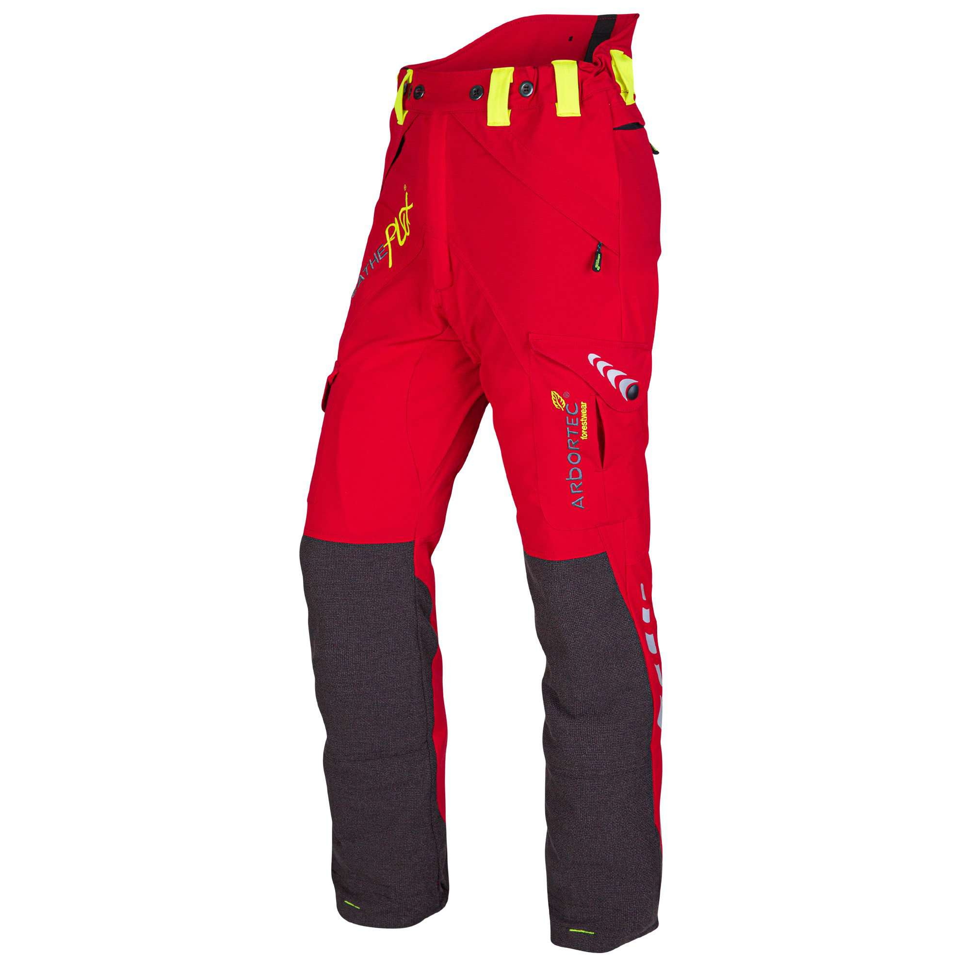 AT4010 Breatheflex Type A Class 1 Chainsaw Trousers - Red - Arbortec Forestwear