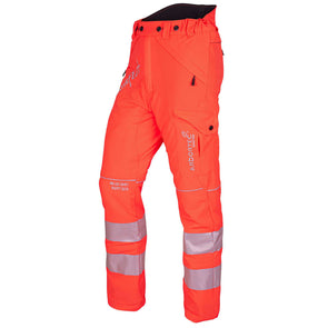 ATHV4010 ATHV4020 ATHV4030 Breatheflex Type C Class 1, 2, 3 Chainsaw Trousers - Hi-Viz Orange