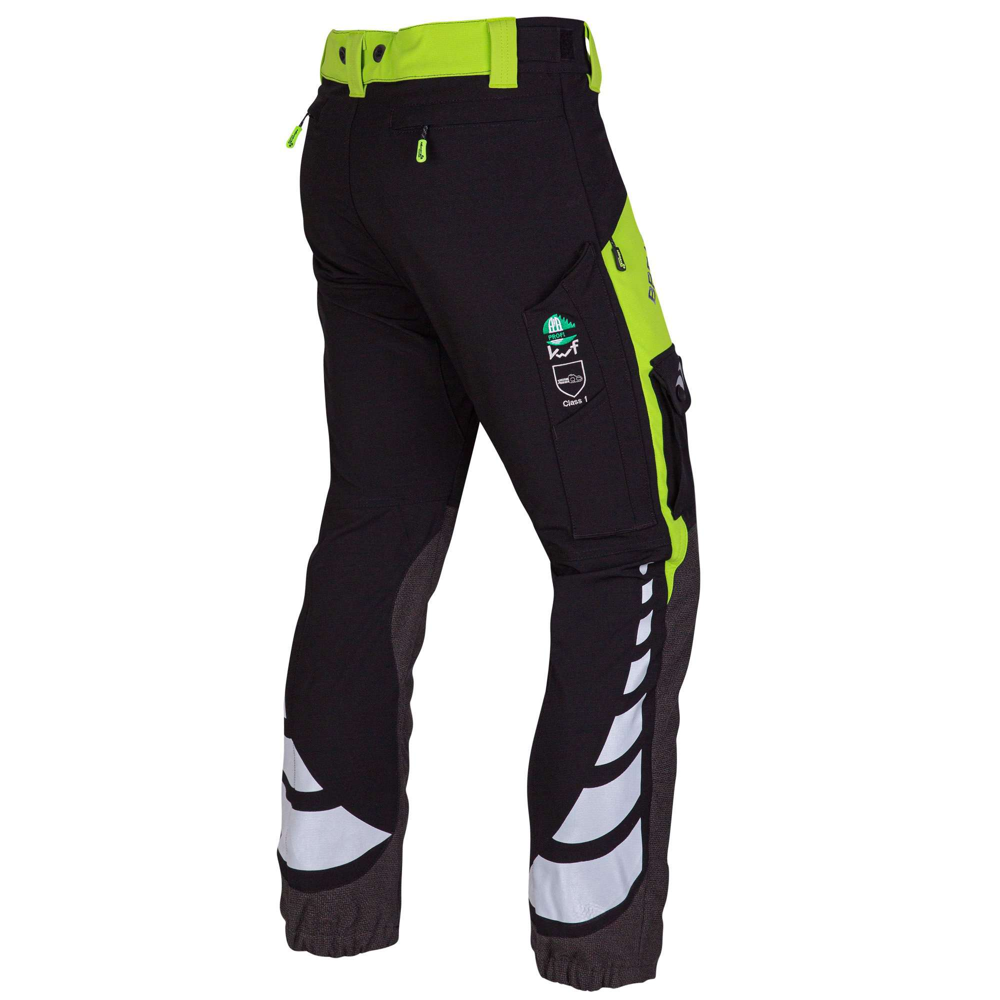 AT4050 Breatheflex Ladies Type C Class 1 Chainsaw Trousers - Lime - Arbortec Forestwear
