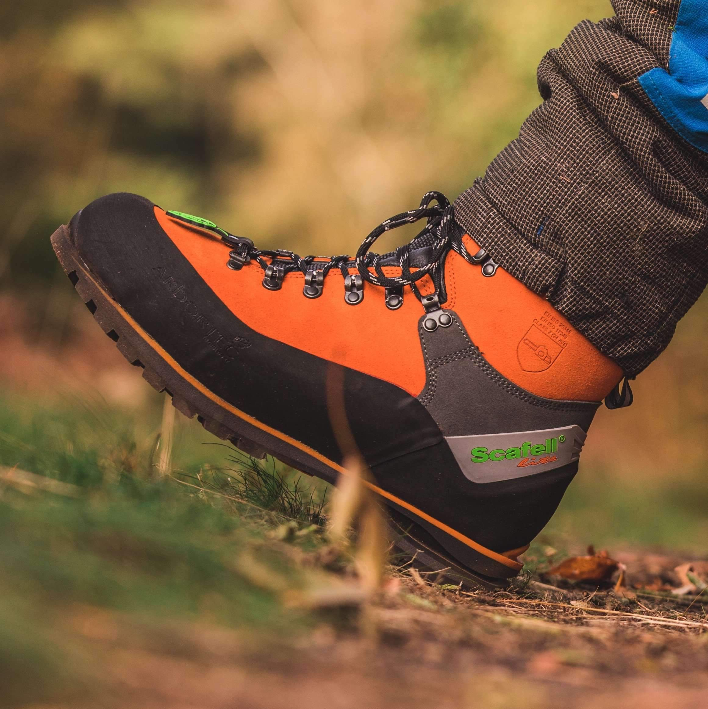 Arbortec Scafell Lite Chainsaw Boots in Action Orange