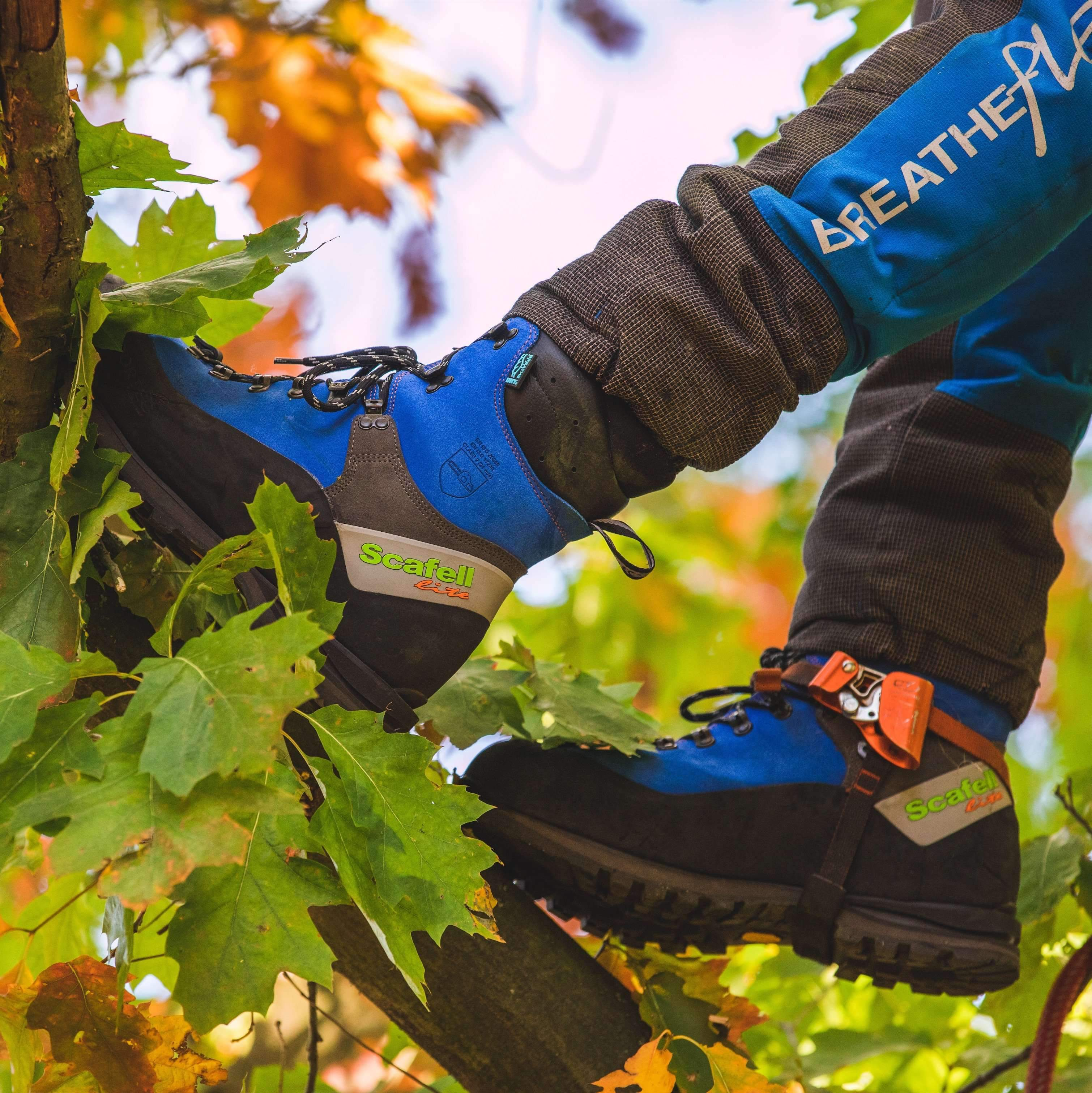 Arbortec Scafell Lite Chainsaw Boots in Action