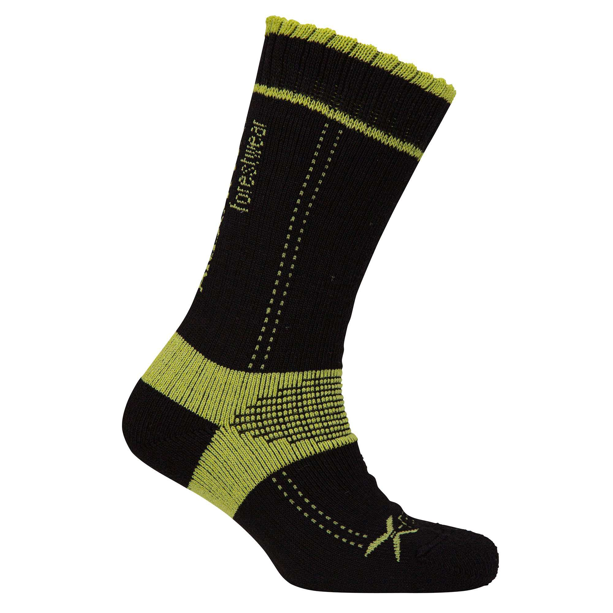 Xpert Lo Sock - Black / Lime - Arbortec Forestwear