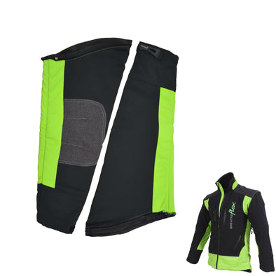 Breatheflex Zip-Off Chainsaw Sleeves - Lime/Black