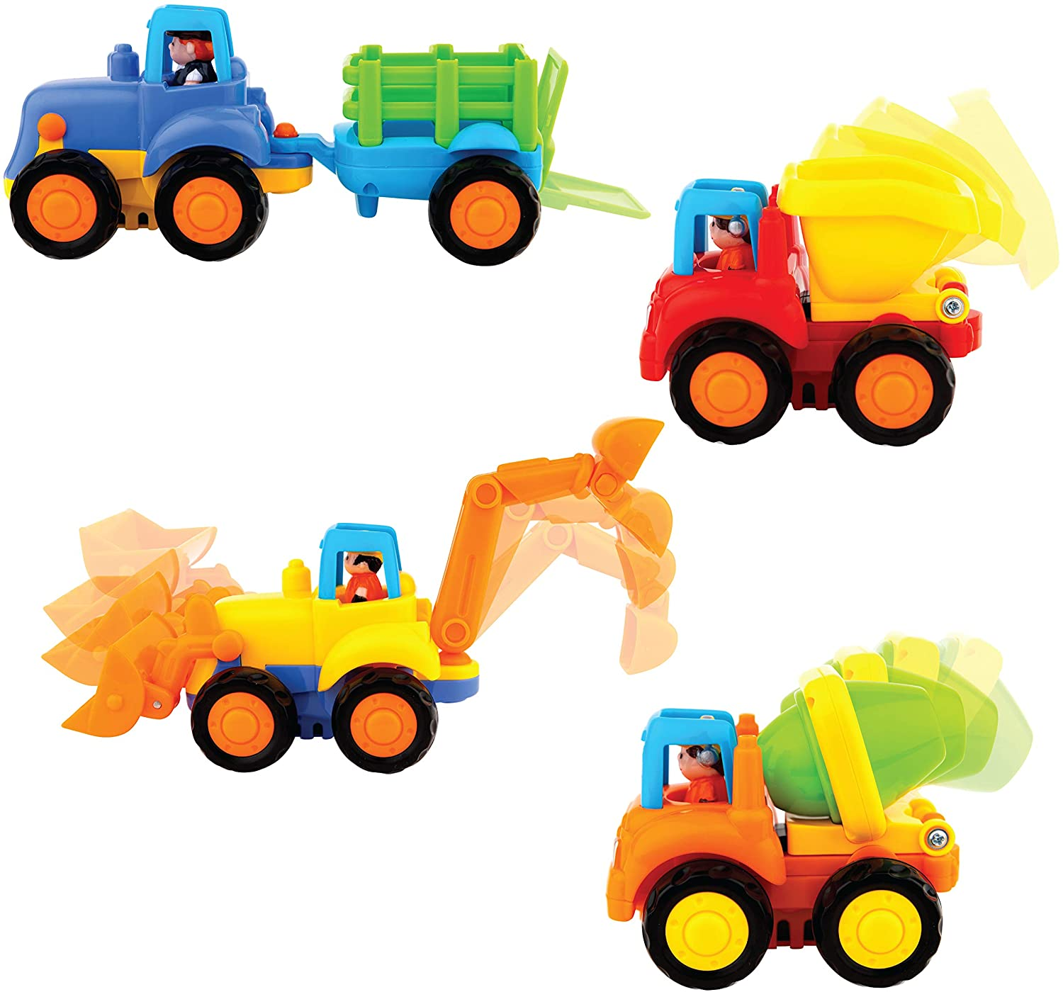 Friction Powered Cars - set of  4