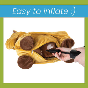 Plush animal Hopper - Brown - With Hand Air pump