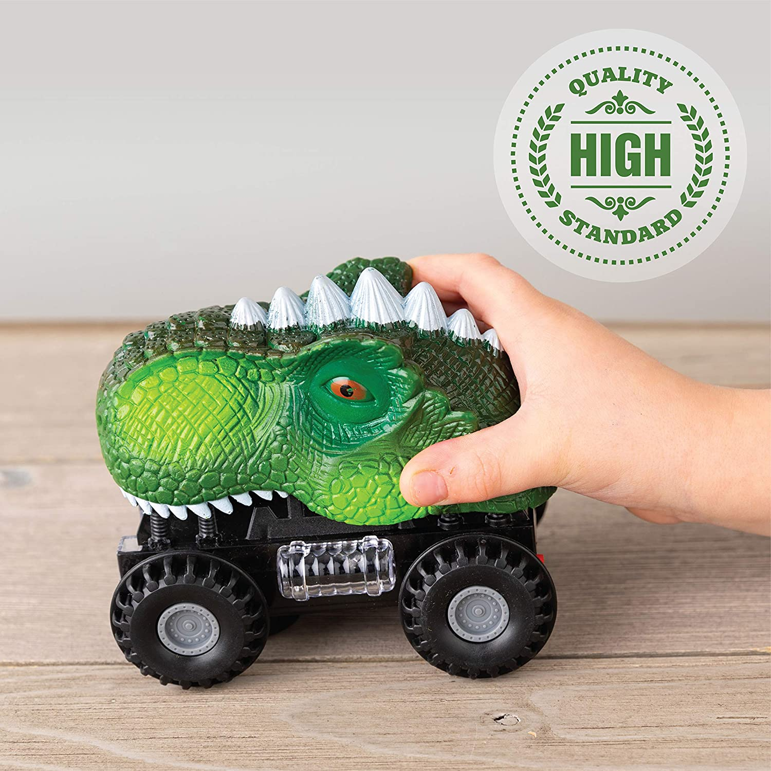 Dinosaur Cars 1 pack green