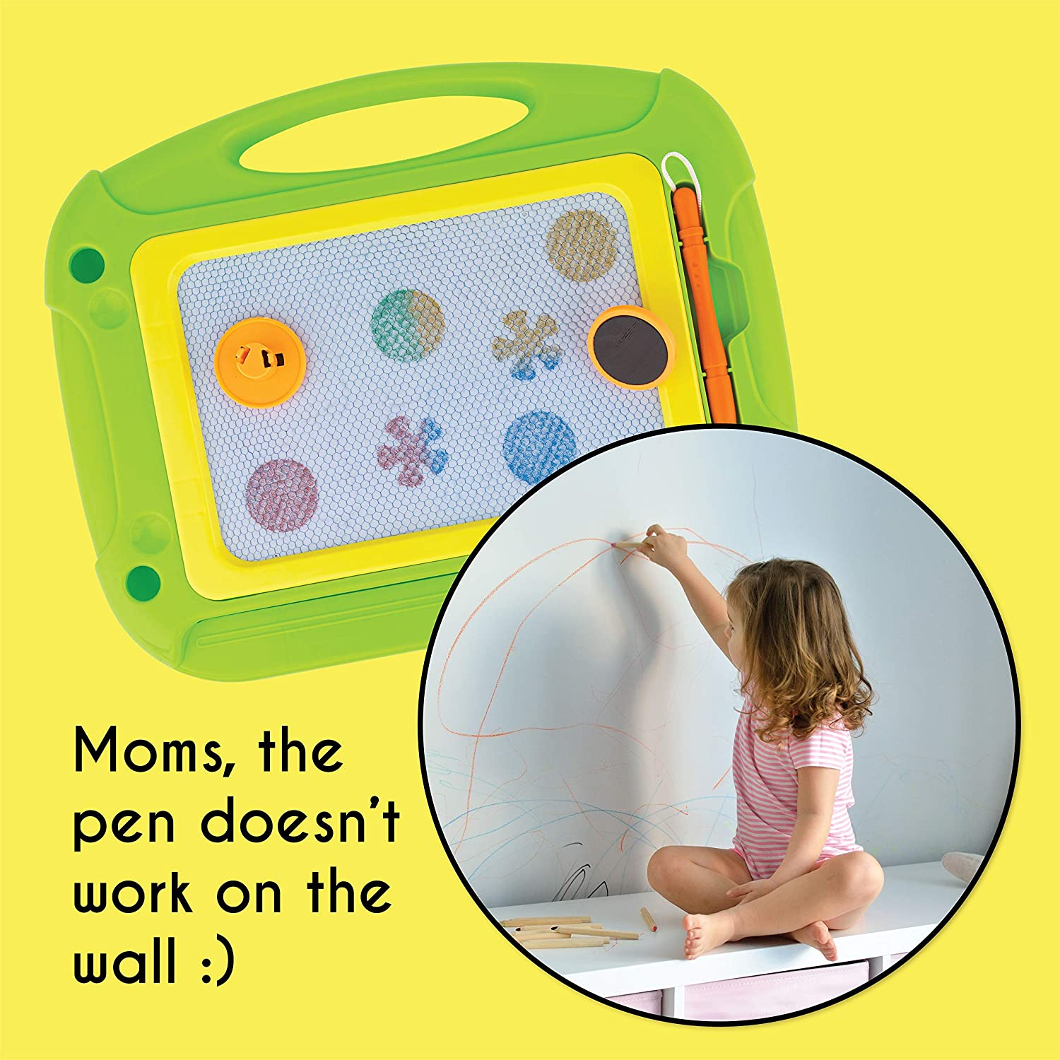 Magnetic Doodle Drawing Board green