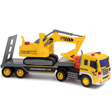 Load image into Gallery viewer, Friction Construction Truck With Excavator