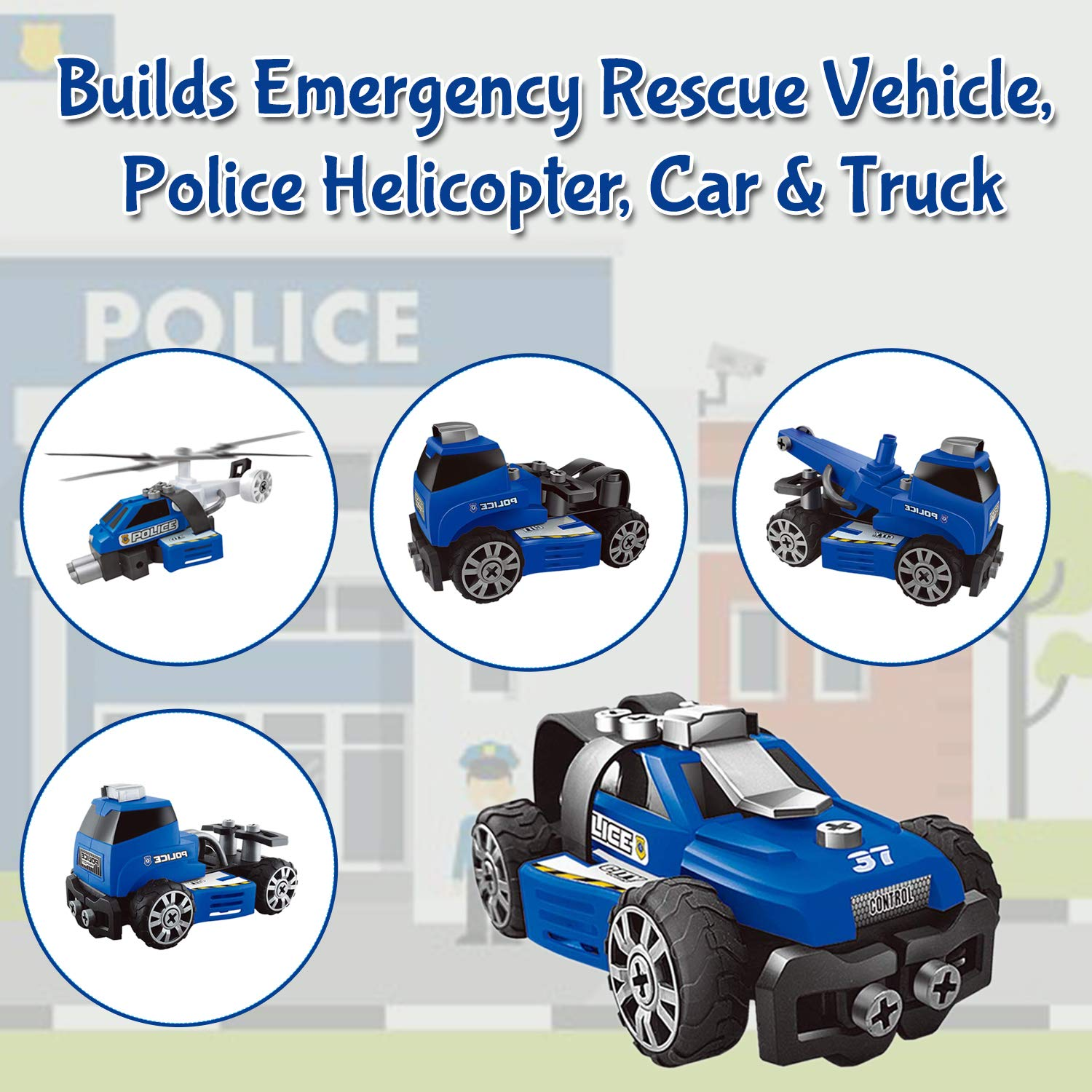 5 In 1 DIY Police Cars