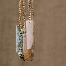 Load image into Gallery viewer, Stone Point Necklace - Aqua Terra/Stone of Peace