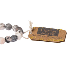 Load image into Gallery viewer, Ocean Agate Stone Bracelet - Stone of Plentitude