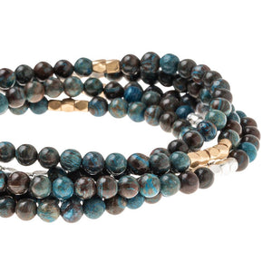 Blue Sky Jasper - Stone of Empowerment - Stone Wrap Bracelet/Necklace