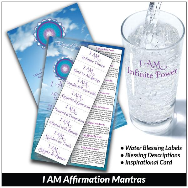 I AM Affirmation Mantras - Water Blessing Label®