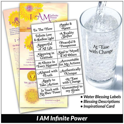 I AM Infinite Power - Water Blessing Label®