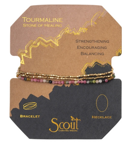 Delicate Stone Tourmaline - Stone of Healing / Gold - Bracelet/Necklace