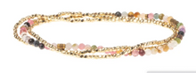 Load image into Gallery viewer, Delicate Stone Tourmaline - Stone of Healing / Gold - Bracelet/Necklace