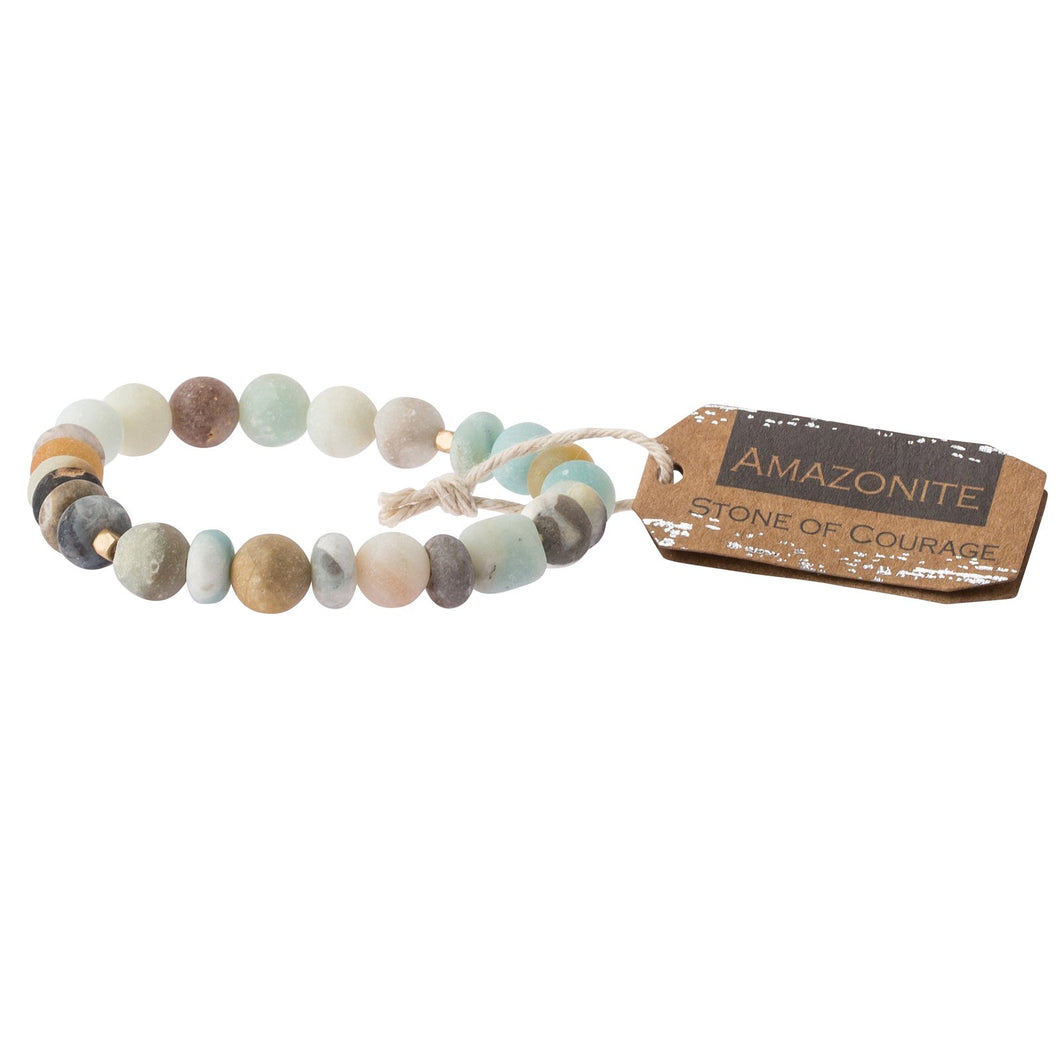Amazonite Stone Bracelet - Stone of Courage