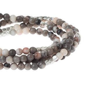Ocean Agate - Stone of Plenitude - Stone Wrap Bracelet/Necklace