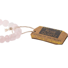 Load image into Gallery viewer, Rose Quartz Stone Bracelet - Stone of the Heart