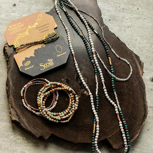 Picasso Jasper - Stone of Creativity - Stone Wrap Bracelet/Necklace