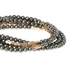 Load image into Gallery viewer, Pyrite - Stone of Positive Energy - Stone Wrap Bracelet/Necklace