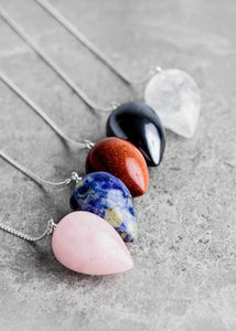 Gemstone Teardrop Pendulum
