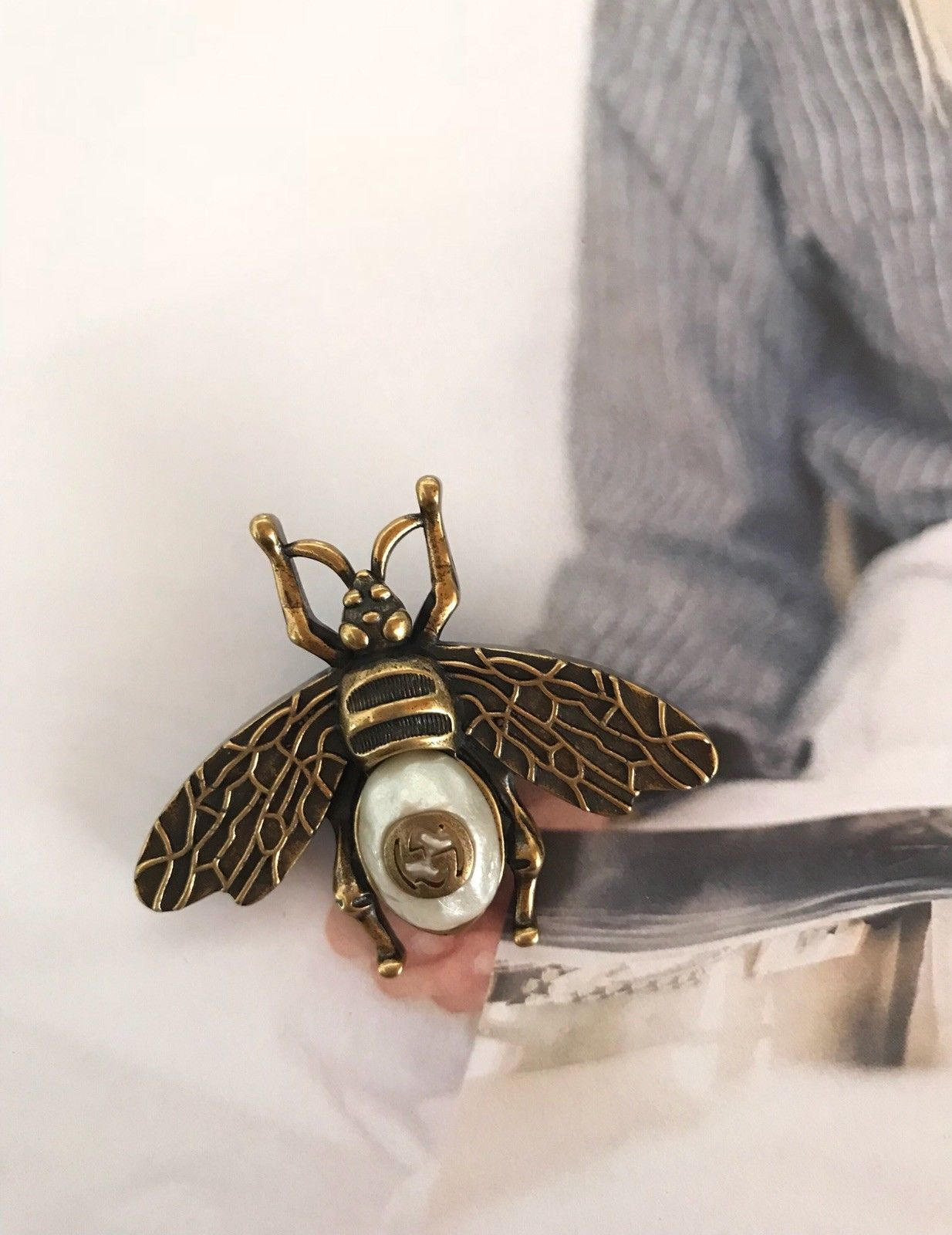 85a256d2ae8 GUCCI Antique Bee Brooch Pin with Pearl – LA MUSE USA