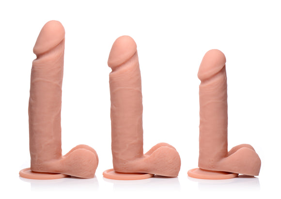 Big Shot Vibrating Remote Control Silicone Dildo with Balls