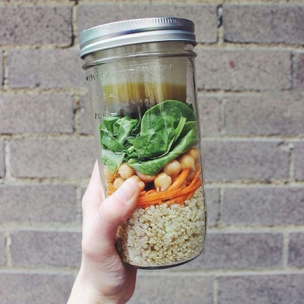 Healthy Snacking On The Go - Salad in a Mason Jar with BNTO by Cuppow