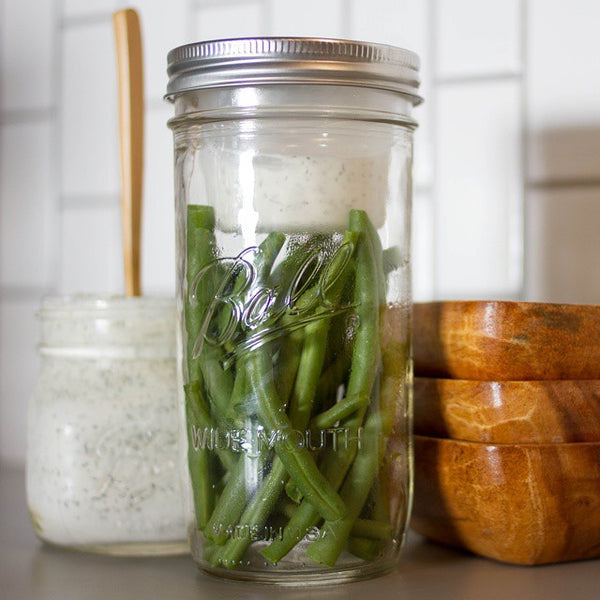 Snacks Stored Smart - Separate Wet and Dry in a Mason Jar with BNTO by Cuppow!