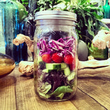 Salad in a Jar! Safely Stored and Secured with BNTO by Cuppow!