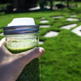 Take Any Green Smoothie On-The-Go With A Regular Mouth Cuppow Mason Jar Drinking Lid