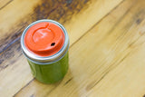 Cuppow reusable mason jar drinking sipping lid wide mouth coral designed for coffee smoothies and cocktails