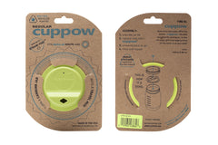 Cuppow drinking lid regular mouth chartreuse sipping lid