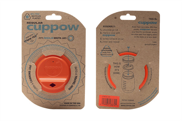 Cuppow drinking lid regular mouth coral sipping lid