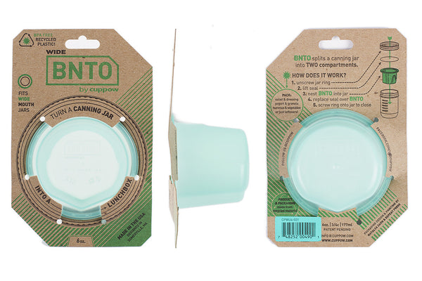 Wholesale - BNTO Canning Jar Lunchbox Adaptor - Wide Mouth - 6oz // Multiple Color Options