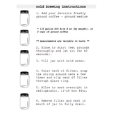 CoffeeSock Cold Brew Filter Instructions