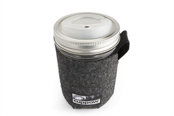 Cuppow Glass Travel Mug - Wide Mouth - 16oz