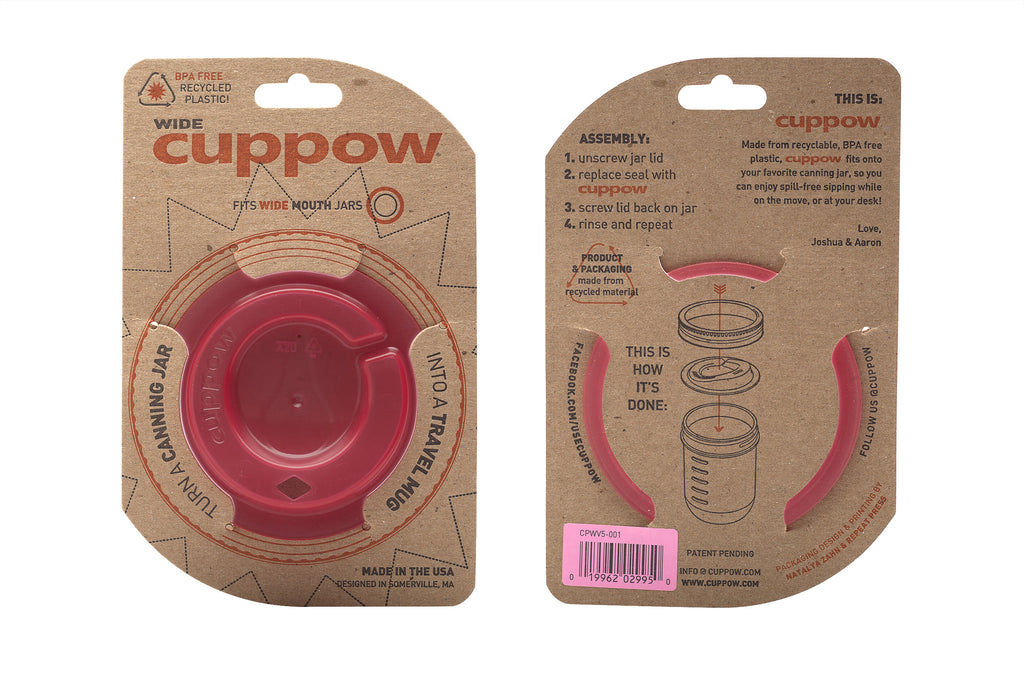 cuppow canning jar drinking lid wide mouth pink cuppow