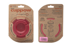 Cuppow drinking lid wide mouth pink sipping lid