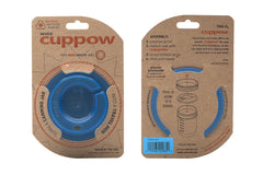 Cuppow drinking lid wide mouth blue sipping lid