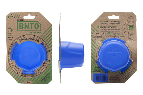 BNTO mason jar adaptor bento box canning jar lunch box recycled plastic made in the usa
