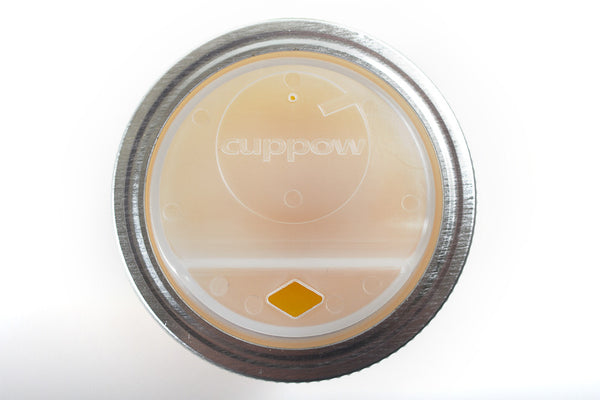 Turn Any Regular Mouth Jar into a Travel Mug with Cuppow!