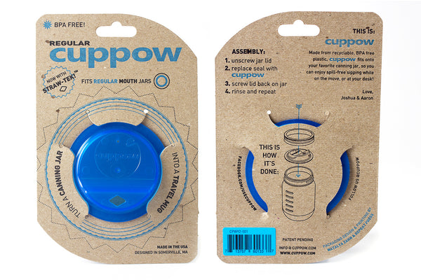 cuppow mason jar drinking lid regular mouth blue sippy cup