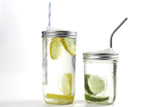 cuppow drinking lid mason jar sipping sippy canning jar travel mug steel straw