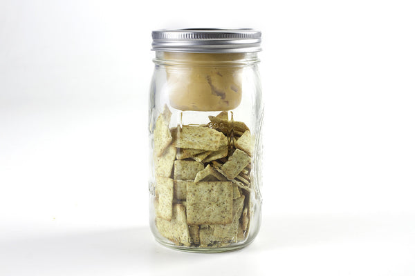 cuppow bnto mason jar lunchbox adaptor wide mouth 6 oz peanut butter and crackers