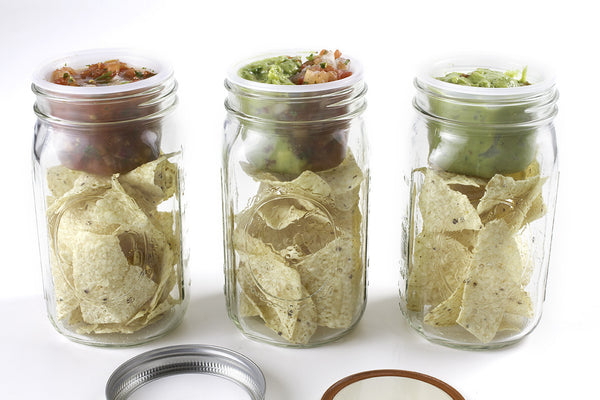 Chips and Dip in a Mason Jar with BNTO by Cuppow!