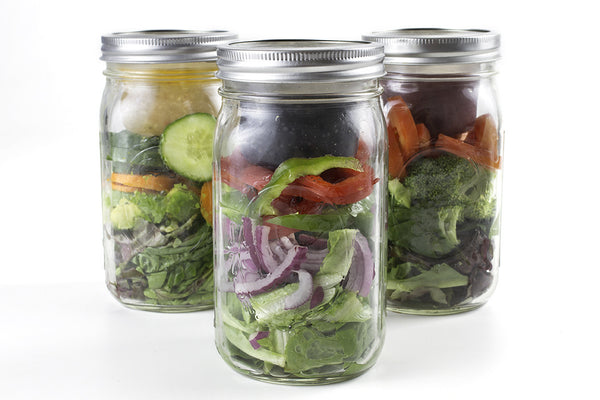 cuppow bnto mason jar lunchbox adaptor wide mouth 6 oz salad in a jar