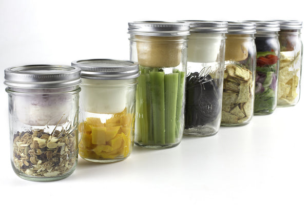BNTO Turns A Mason Jar into A Bento Box - Made in the USA from 100% Recycled BPA-Free Plastic
