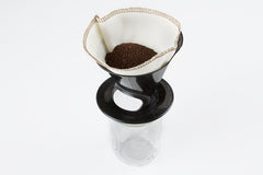 Wide Mouth Pour-Over Coffee Brewer [#2 Filter] (Black)
